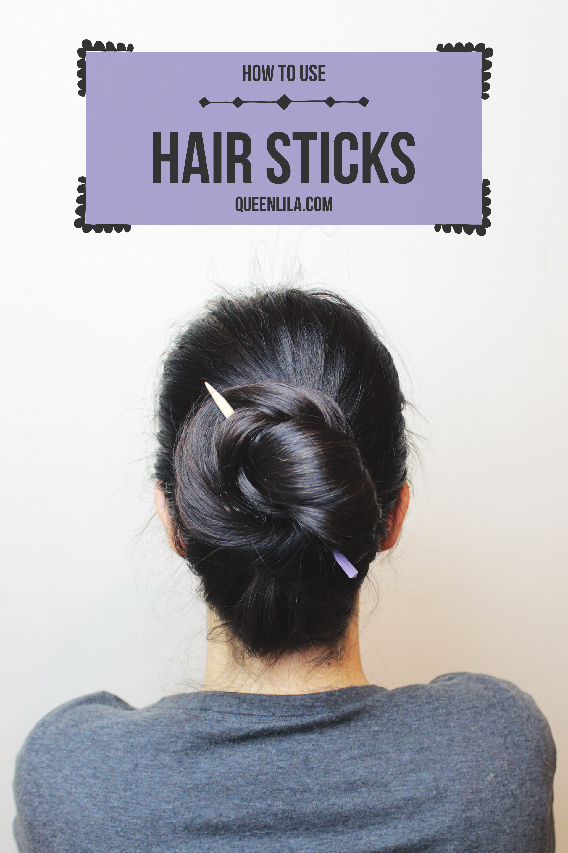 How to use hair sticks!