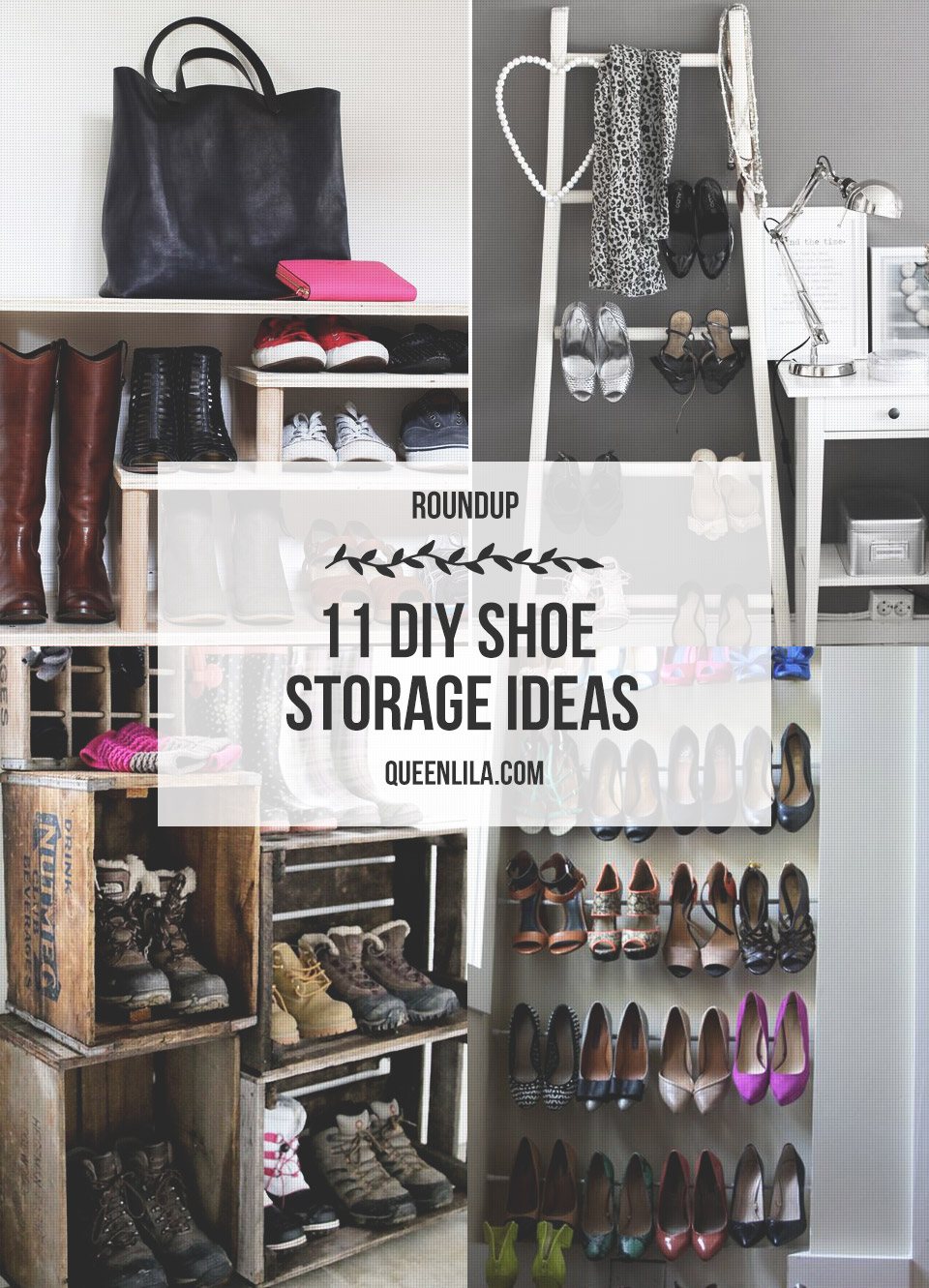 11 DIY Shoe Storage Ideas Roundup Queen Lila