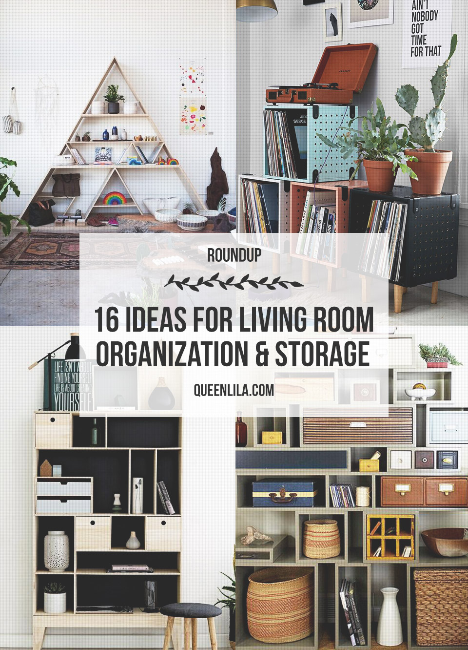 16 Ideas For Living Room Organization Storage